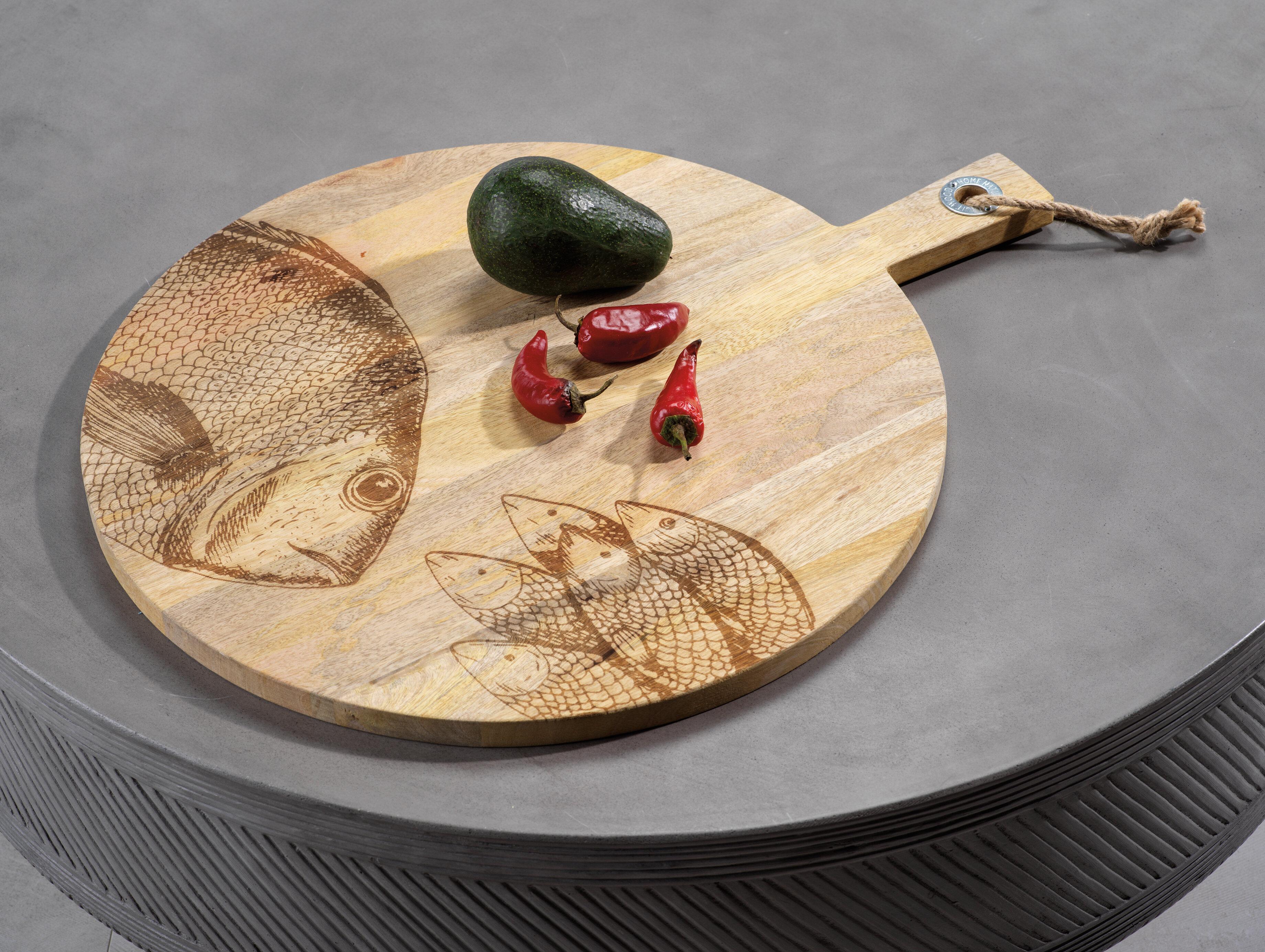 Loon Peak Teak Wood Cutting Board Wayfair