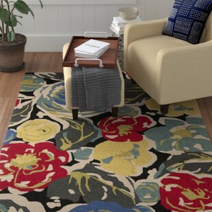 Doyle Hand-Hooked Blue/Yellow/Gray Indoor/Outdoor Area Rug