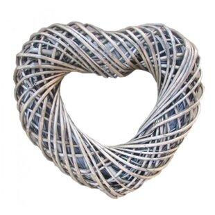 Preserved Heart Shaped 40cm Wicker Wreath By The Seasonal Aisle