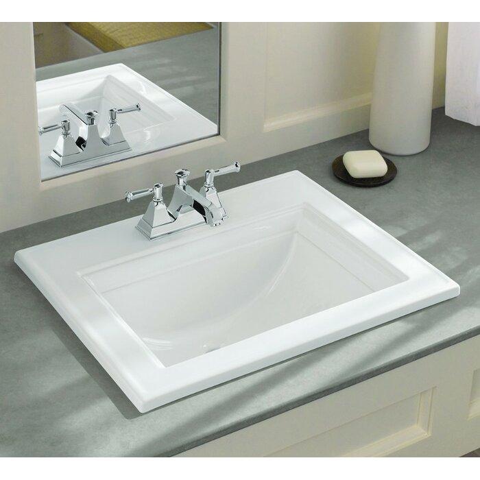 kohler memoirs® ceramic rectangular dropin bathroom sink
