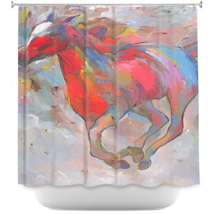 Smooth Runner I Horses Single Shower Curtain