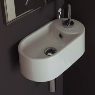 Compare Seventy Ceramic 17 Wall Mount Bathroom Sink with Overflow ByScarabeo by Nameeks