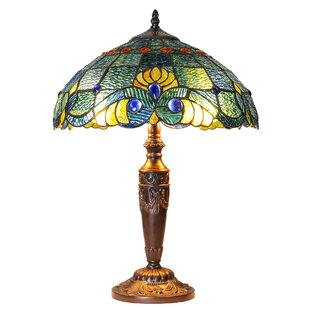 Low priced Criner Swirling Shells Tiffany 20.50 Table Lamp By Fleur De Lis Living