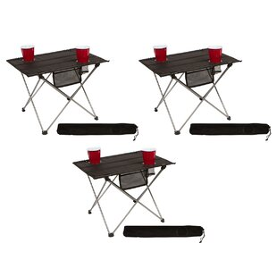 Melvina Portable Roll-up Lightweight Folding Aluminum Camping Table (Set of 3)