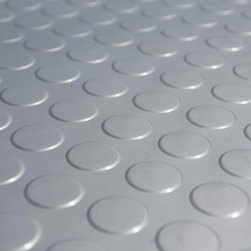 10 Ft Garage Flooring Roll In Silver