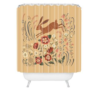Pimlada Phuapradit Hare Single Shower Curtain by East Urban Home 2019 Online