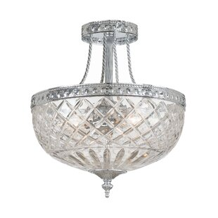 Fleur De Lis Living Waddell 2-Light Semi Flush Mount