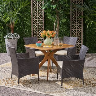 L?a 5 Piece Dining Set with Cushions by W..