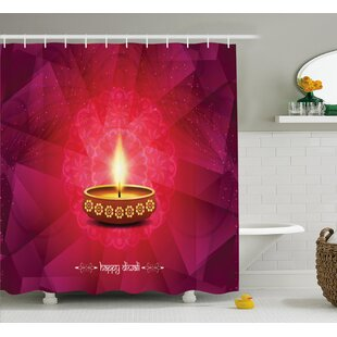 Mcgrath Diwali Paisley Decor Backdrop Image With Diwali Religious Festive Celebration Indian Print Single Shower Curtain