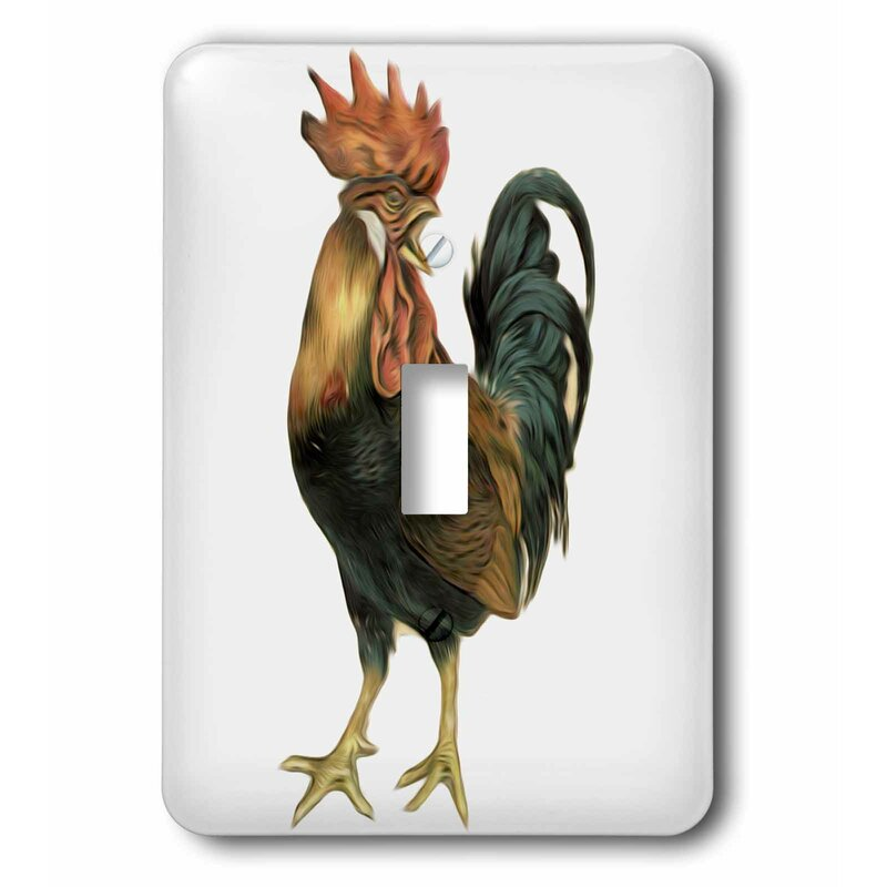 3drose Bird Illustration Cock Rooster Chicken 1 Gang Toggle Light Switch Wall Plate Wayfair