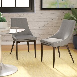 Cleland Upholstered Parsons Chair (Set of 2) Mercury Row