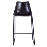 Landry Leather Bucket 27.75 Bar Stool by Foundstone™