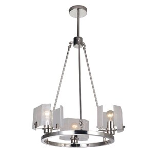 Zeringue 6-Light Wagon Wheel Chandelier b..