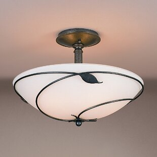 Leaf Large 3-Light Semi Flush Mount by Hubbardton Forge
