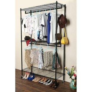 Affordable Eliason 47.2 W Double Layer Mesh Garment Rack By Rebrilliant