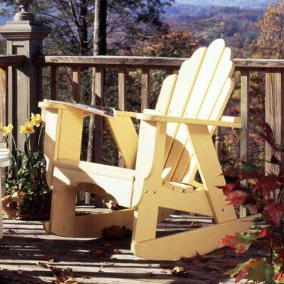 Fanback Wood Rocking Adirondack Chair Uwharrie Chair Color: Tangerine Wash