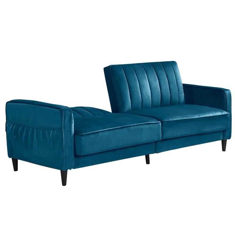 Corrigan Studio Yvette Twin Or Smaller 70 87 Split Back Convertible Sofa Wayfair