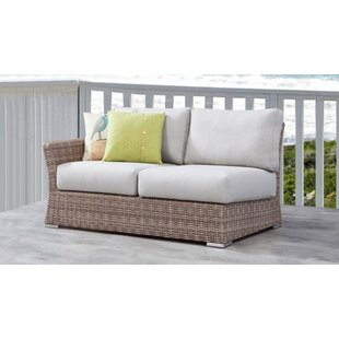 Searle Right Arm Olefin Patio Sectional with Cushions