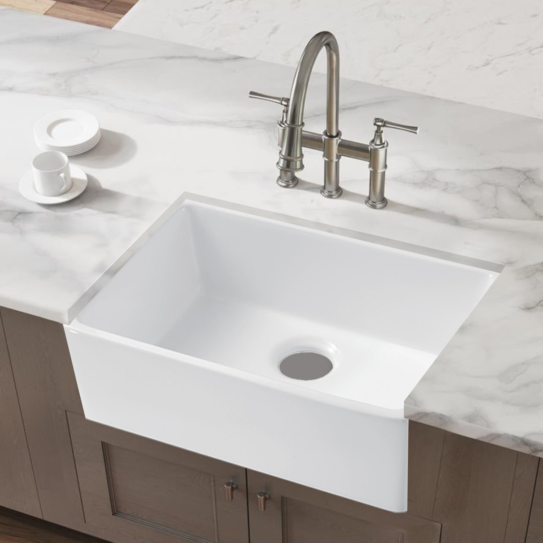 Watqen 24 L X 16 W Farmhouse Kitchen Sink Reviews Wayfair