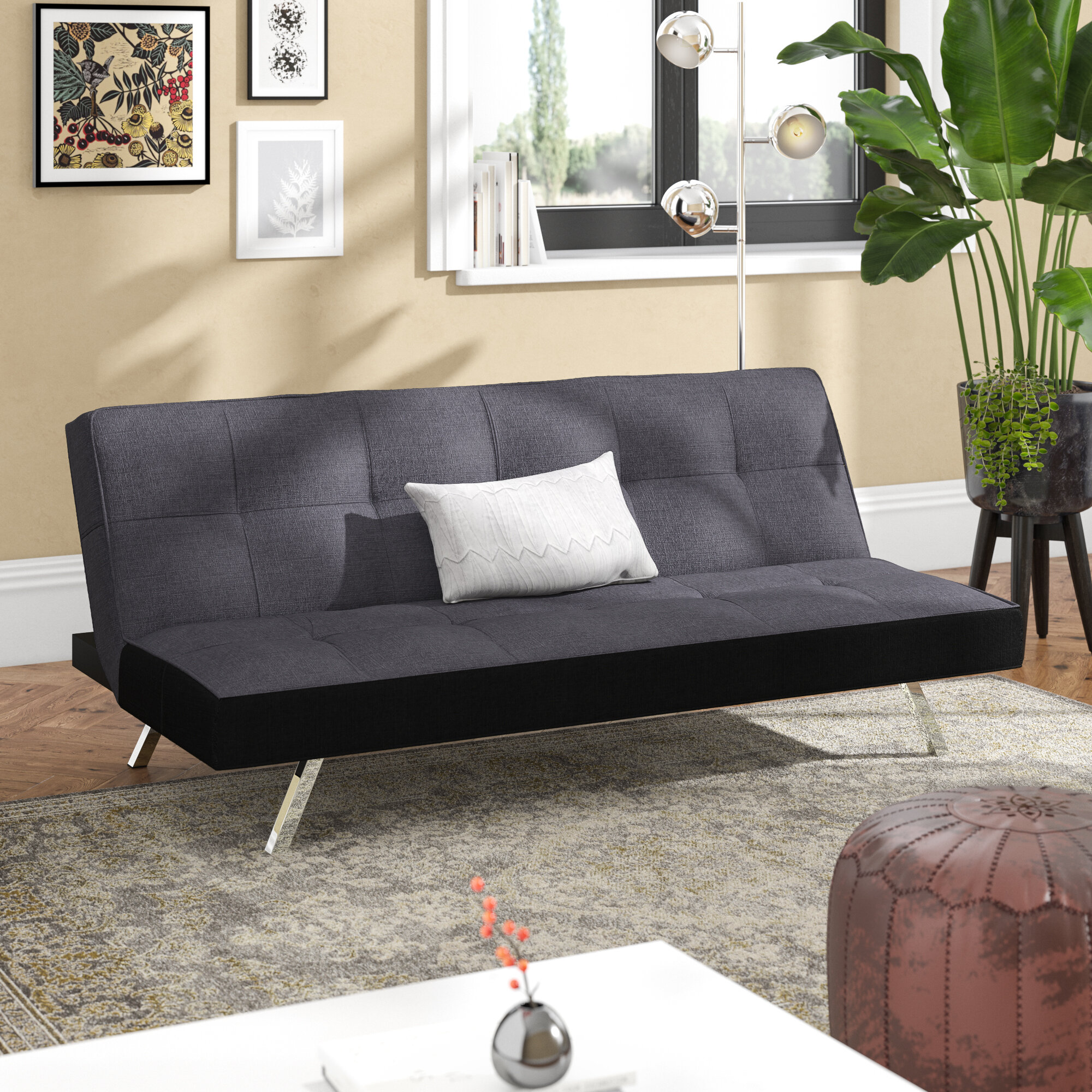 Fabriksnye 17 Stories Rayfield 3 Seater Clic Clac Sofa Bed & Reviews VY-02
