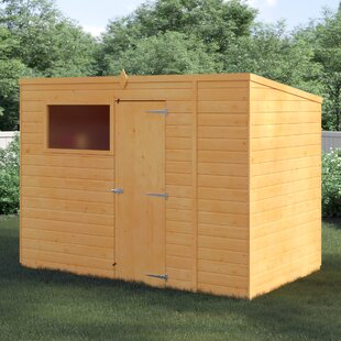 10 Ft. W X 6 Ft. D Solid Wood Garden Shed By WFX Utility