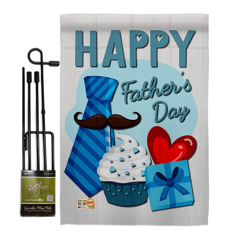 Breeze Decor Happy Father S Day Impressions Decorative 2 Sided Polyester 18 5 X 13 In Flag Set Wayfair