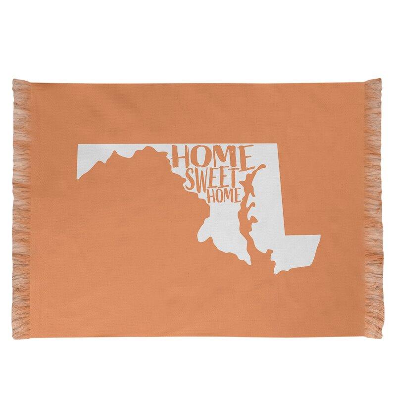 East Urban Home Home Sweet Maryland Orange Area Rug Wayfair