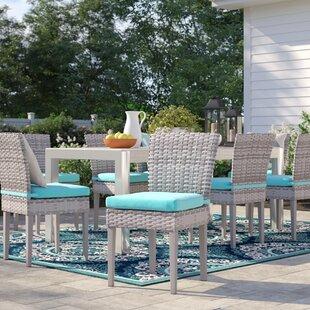 Falmouth Patio Dining Chair With Cushion (Set Of 8) by Sol 72 Outdoor New