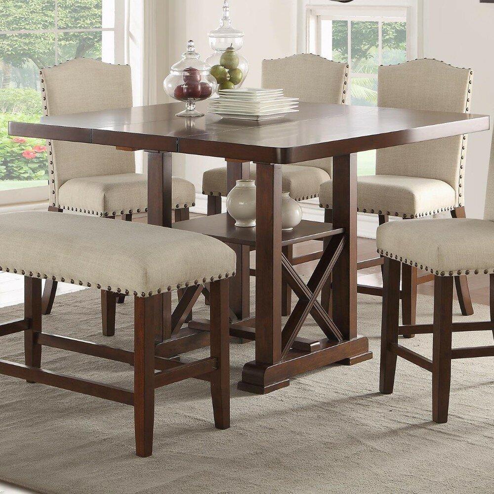 Rehausser Une Table De Salle A Manger table de salle à manger à hauteur de comptoir merrill