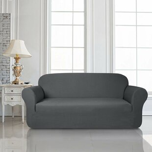 Knit Jacquard Box Cushion Loveseat Slipcover