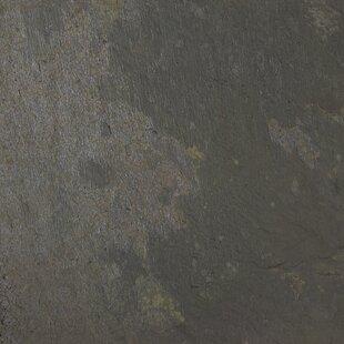 Rustic 16'' x 16'' Slate Field Tile in Black