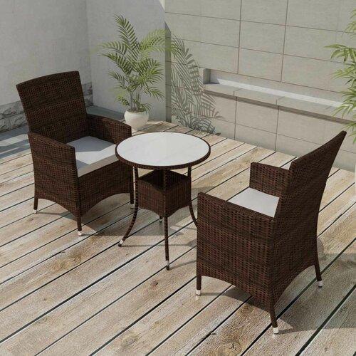 2-Sitzer Balkonset Guerriero mit Polster Garten Living Farbe (Gestell): Braun | Garten > Balkon > Balkon-Sets | Garten Living