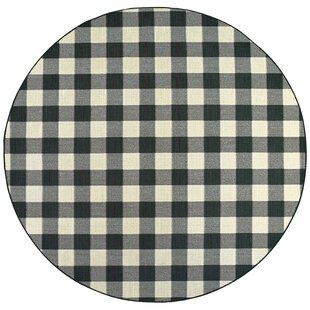 Simonton Casual Black Indoor/Outdoor Area Rug