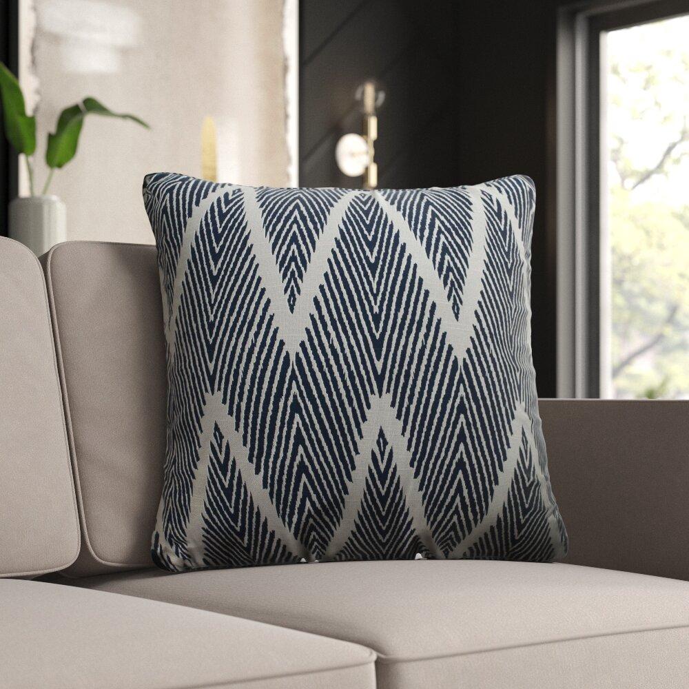 Cotton Chevron Throw Pillow Reviews Joss Main