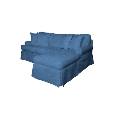 Coral Gables Reversible Sleeper Sectional Upholstery Color: Indigo Blue by Beachcrest Home
