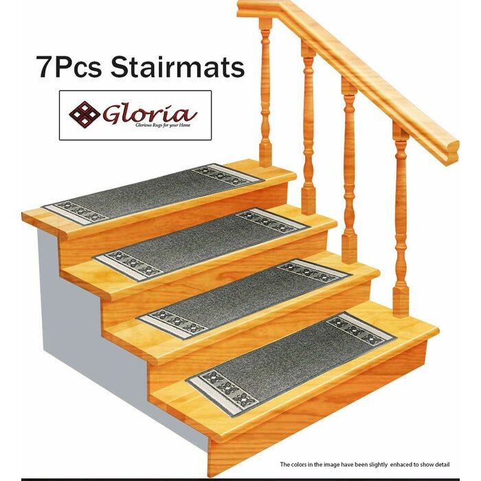 Gloria Rug Stair Treads Non Slip Outdoor Skid Resistant Tread 8 5 X 26 Beautiful Fl Design Mats With Rubber Backing Emily