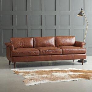 Excellent Dwellstudio Carson Leather Sofa Domun Sakmon Caraccident5 Cool Chair Designs And Ideas Caraccident5Info