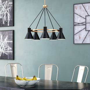 17 Stories Alton 5-Light Modern Shaded Chandelier