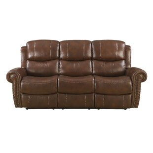 Duanesburg Leather Reclining Sofa by Darby Home Co