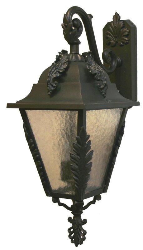 Parisian Elegance 3-Light Outdoor Wall Lantern