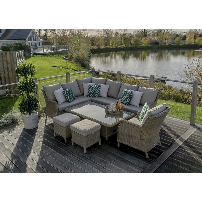Sol 72 outdoor rysing 9 seater rattan effect corner sofa for 9 seater sofa set