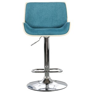 Chariklo Adjustable Swivel Bar Stool by Orren Ellis