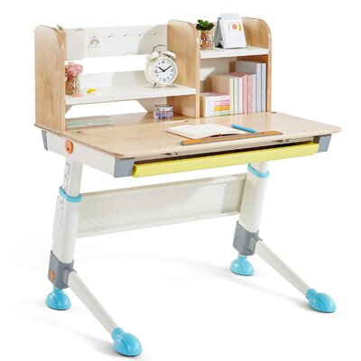 "Zoomie Kids Muro 35"" Writing Desk Top Colour: Blue"