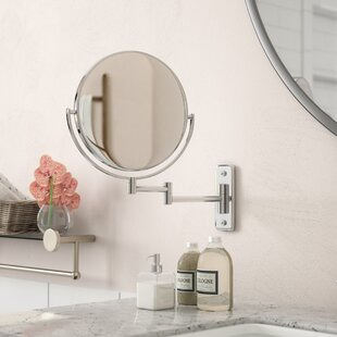 Inexpensive Elkins Round Wall Mounted Bath Boutique Mirror By The Twillery Co.