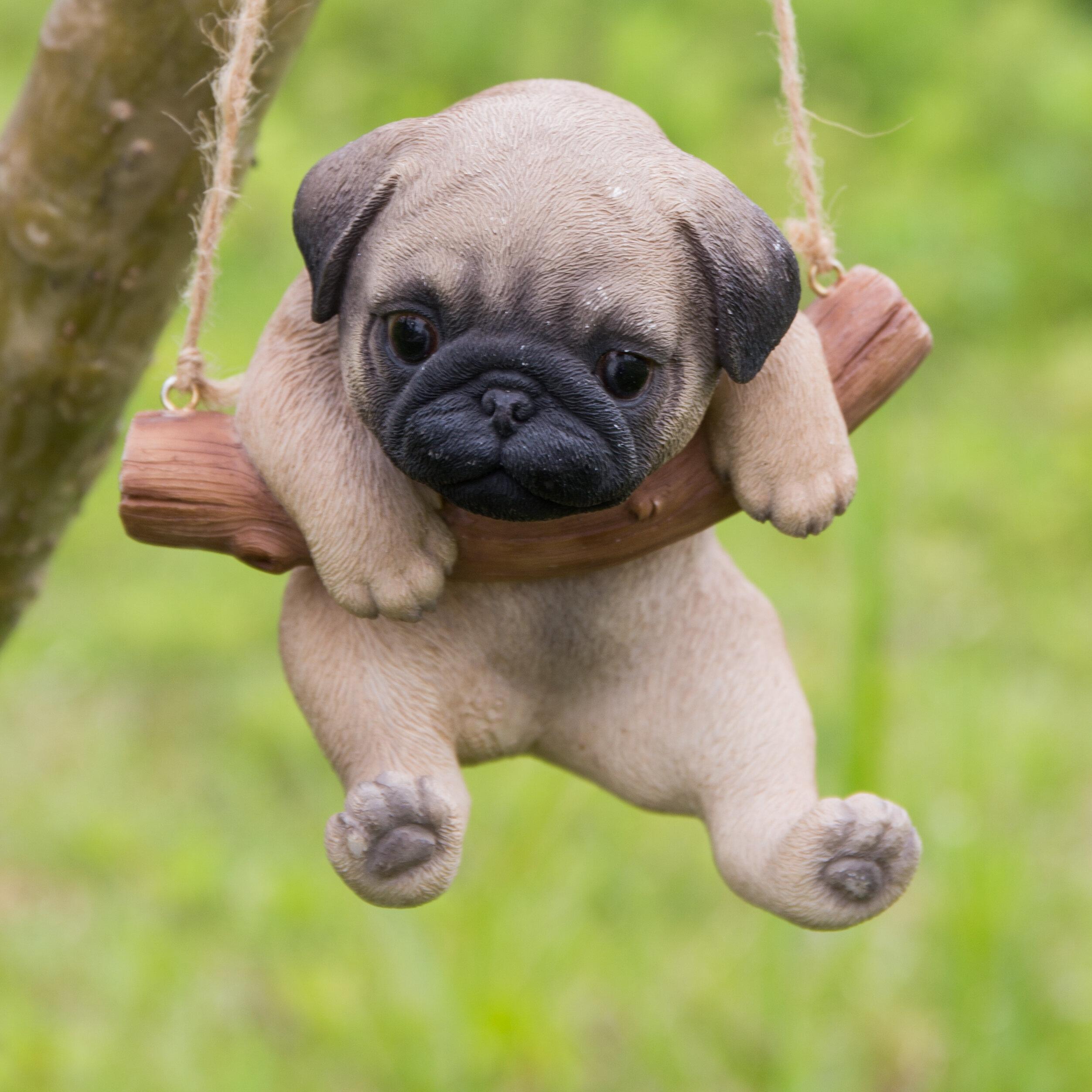 47b2c4541d6 Hi-Line Gift Ltd. Hanging Pug Puppy Statue & Reviews | Wayfair