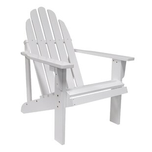 Beachcrest Home Diredra Solid Wood Adirondack Chair