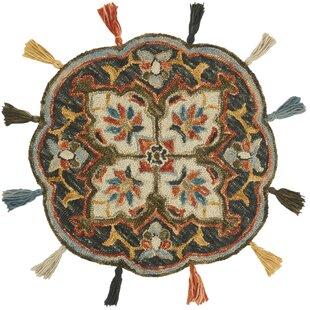 Price Check Rashida Hand-Hooked Wool Charcoal/Rust Area Rug ByBloomsbury Market