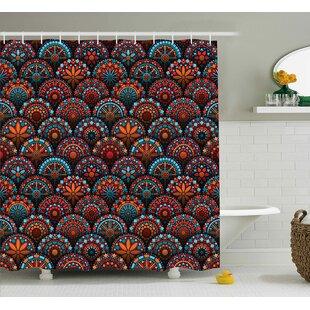 Audington Geometric Floral Forms Shower Curtain + Hooks