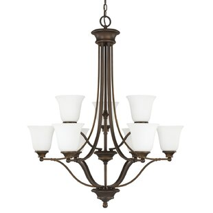 Charlton Home Lindenwood 9-Light Shaded Chandelier