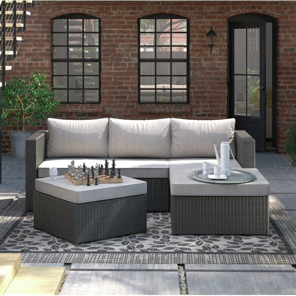 Williston Forge Hammontree Patio Sectional With Cushions U0026 Reviews | Wayfair
